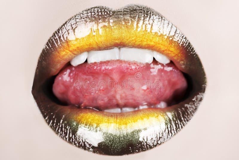 Macro black lips