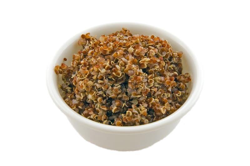 macro blanc de quinoa de photo de cuvette photos stock