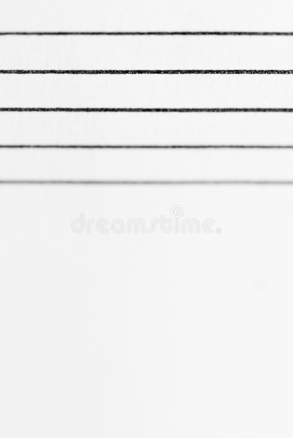 Macro Blank Sheet Music. stock image. Image of note, melody - 28827209