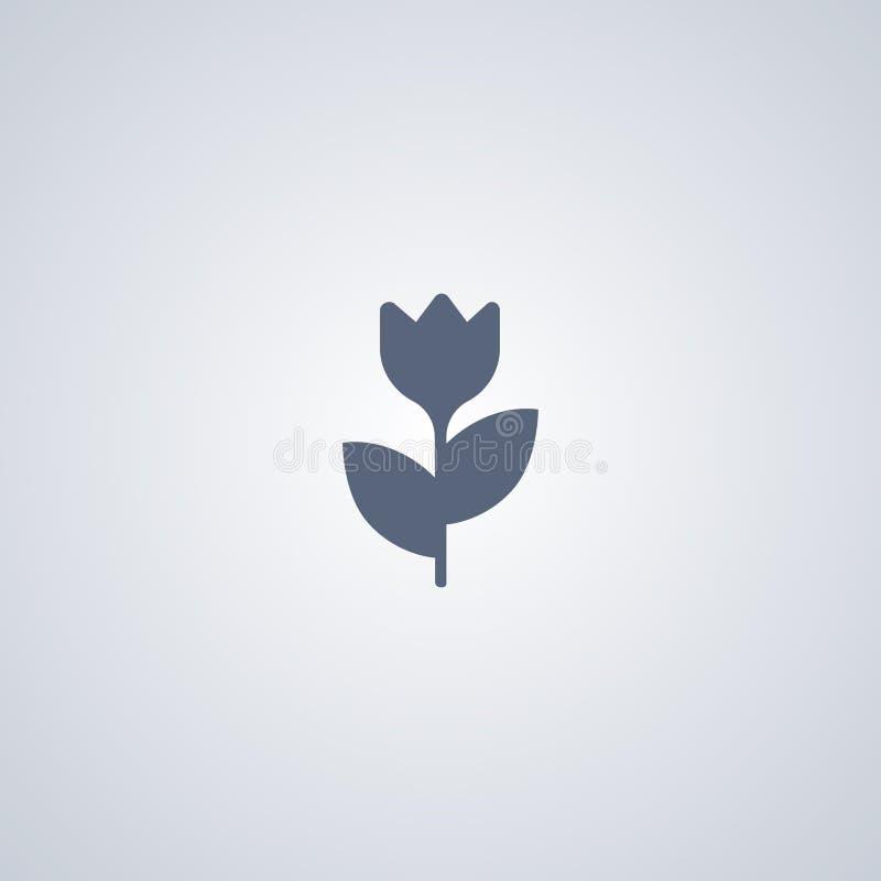 Macro, bloem, vector beste vlak pictogram royalty-vrije illustratie
