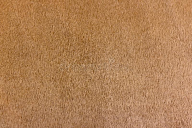 Macro blurred brown fabric texture for background royalty free stock photography
