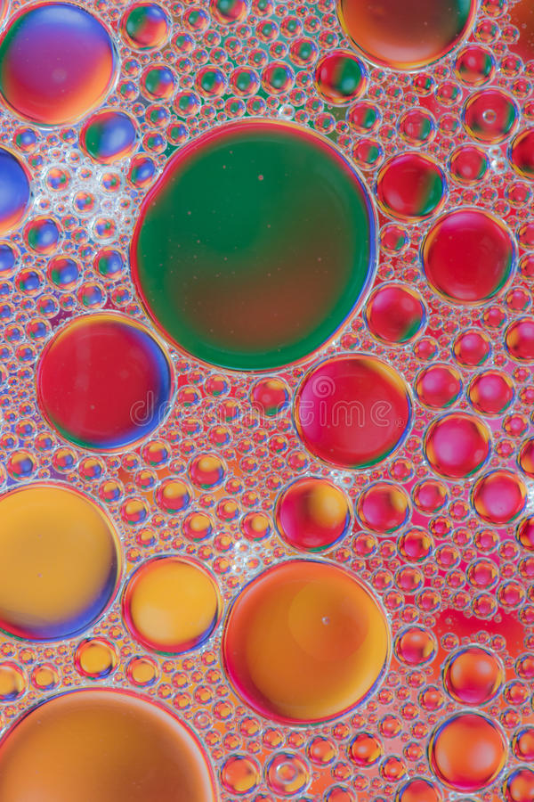 Macro bulles abstraites d'huile images stock