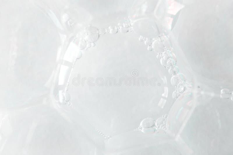 Macro bulles de savon, cellule de texture ou membrane cellulaire photographie stock libre de droits