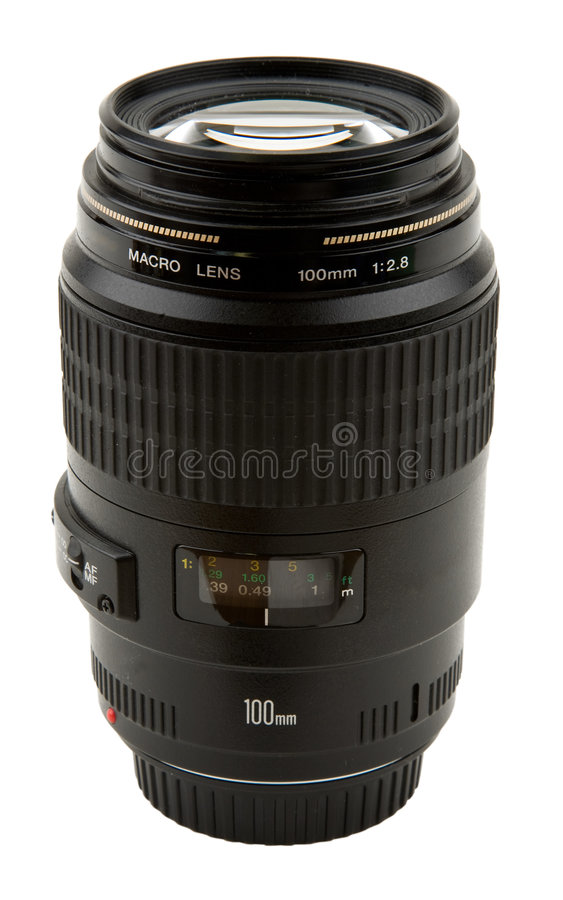 Macro Camera Lens. 100mm or Digital Macro Camera Lens royalty free stock photos