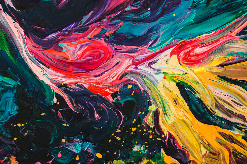 Macro close up of different color oil paint. colorful acrylic. modern art concept. royalty free illustration