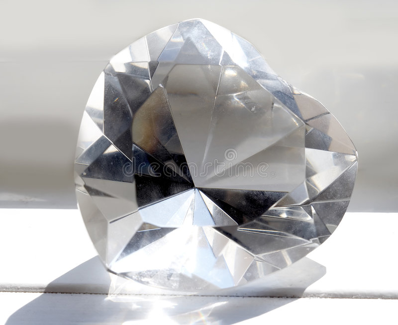 Macro close-up of giant crystal heart stock photos