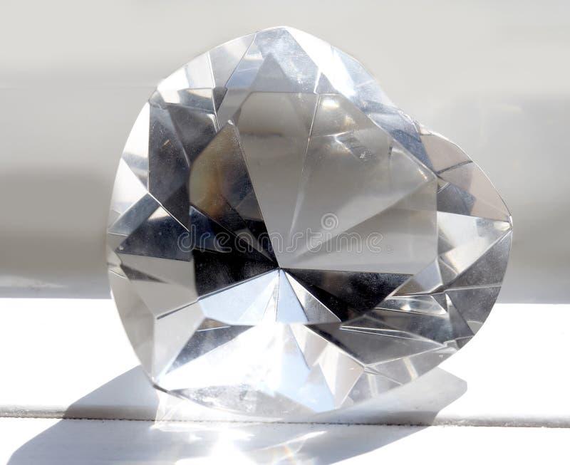 Macro close-up van reuzekristalhart stock foto's