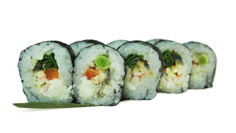 Macro colpo dei sushi Ristorante giapponese, sushi, tradizione orientale fotografia stock libera da diritti