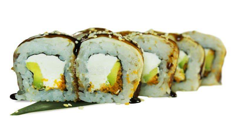 Macro colpo dei sushi Ristorante giapponese, sushi, tradizione orientale fotografie stock libere da diritti