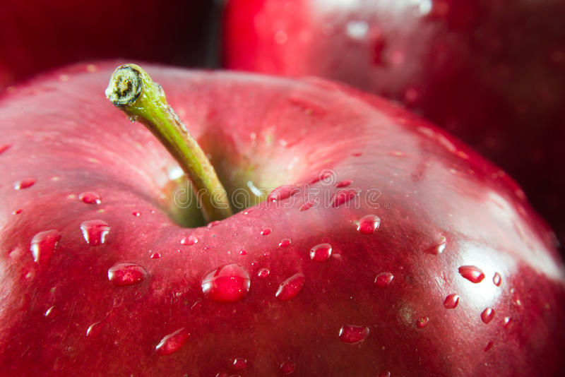 Macro colpo della mela rossa fotografia stock