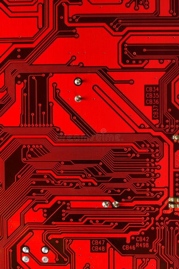Macro Of Computer Board Stock Photography