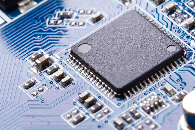 Download Macro Of Computer Chip On Motherboard Stock Image - Image of card, integrated: 23065123