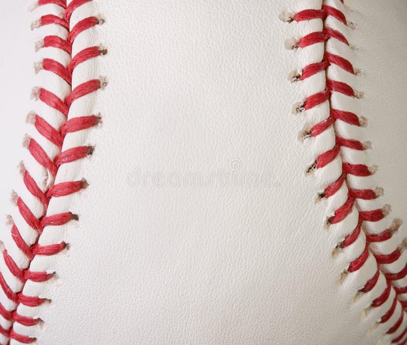 Macro coutures de base-ball images libres de droits