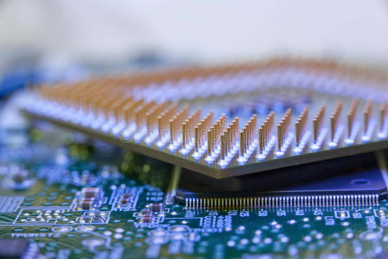 Download Macro cpu pin stock photo. Image of green, equipment - 10542654
