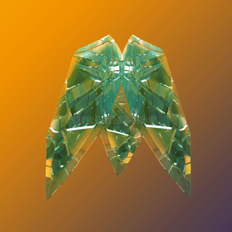 Macro cristalina colorida asombrosa del primer del racimo de Diamond Quartz Rainbow Flame Blue Aqua Aura aislada en fondo negro imágenes de archivo libres de regalías
