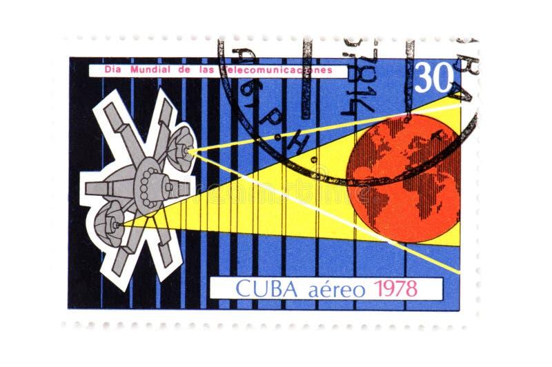 Macro cubana del sello imagen de archivo