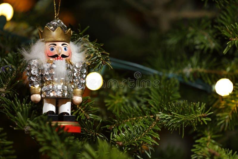 Macro d'arbre de Noël de casse-noix d'ornement image libre de droits