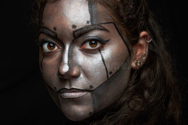 Macro da cara pintada foto de stock royalty free