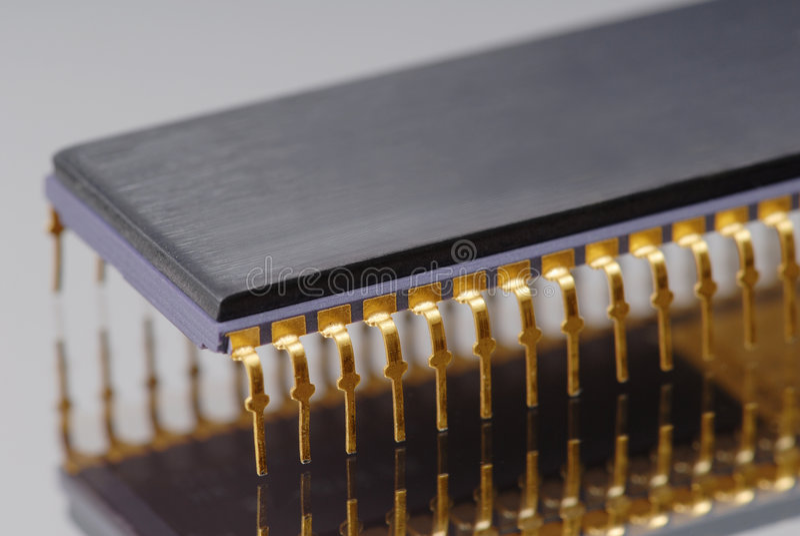 Macro da microplaqueta imagem de stock