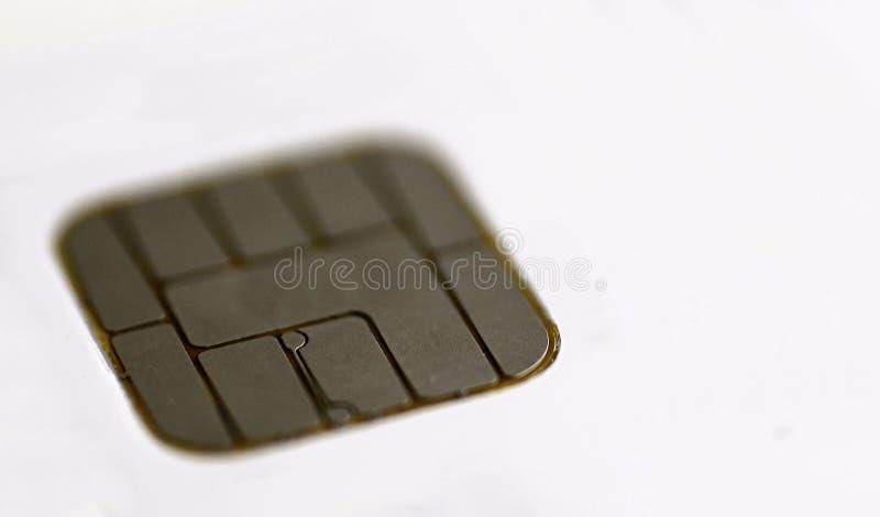 Macro da microplaqueta do cartão de crédito imagens de stock royalty free