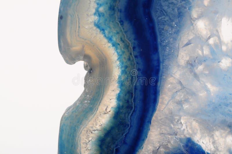 Macro da pedra azul da ágata imagens de stock royalty free