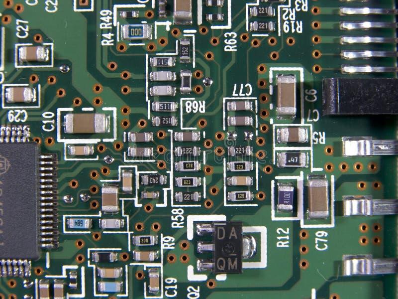 Macro da placa de circuito foto de stock