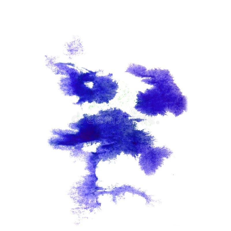 Macro Dark blue spot blotch texture isolated on a white backgrou. Nd 2 stock photo