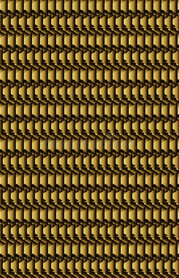 Macro of a dark gold or bronze metallic surface. Looks like a piece of metal up real close, showing what the surface and material looks like at an almost cell vector illustration