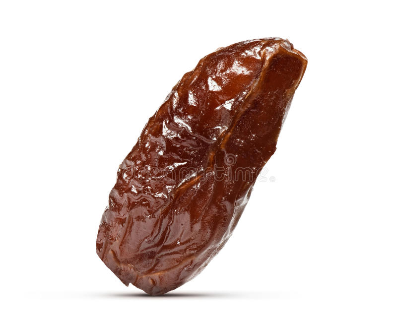 Macro of a Date fruit isolated stock photography