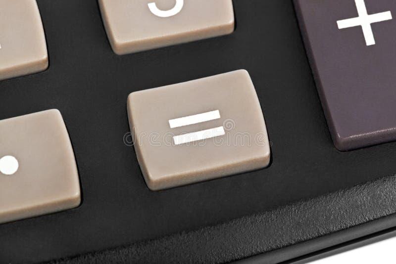 Macro de calculatrice images libres de droits
