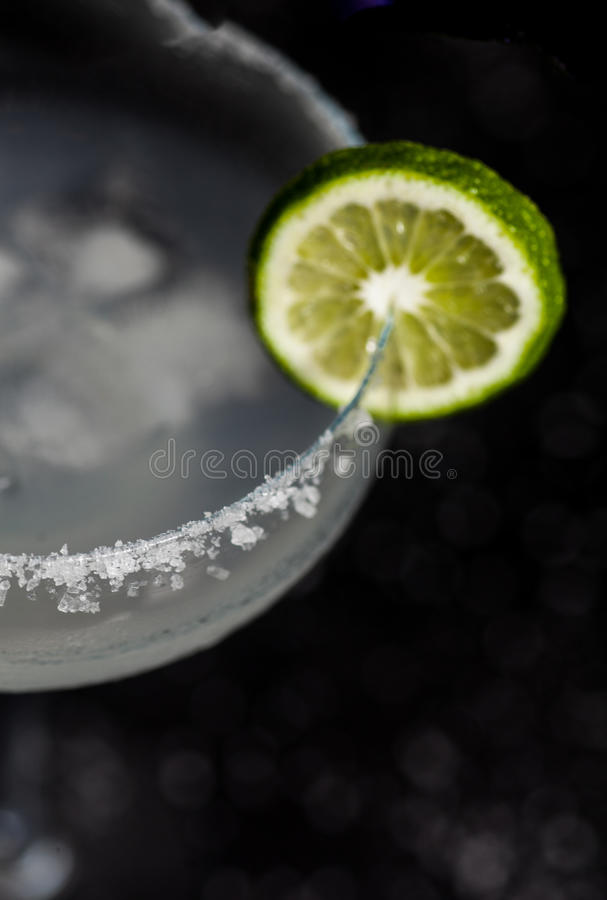 Macro de cocktail de margarita photographie stock libre de droits