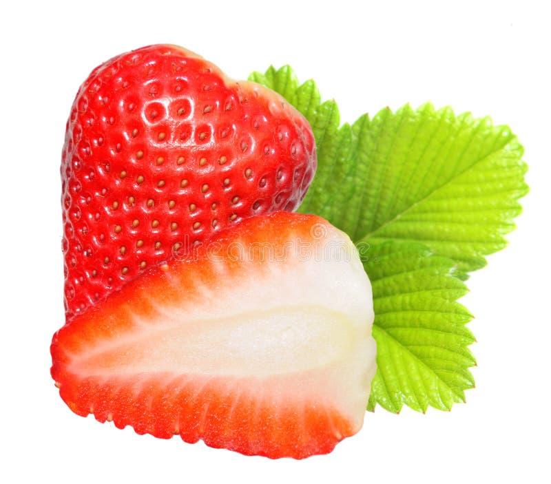 Macro de fraise. image libre de droits