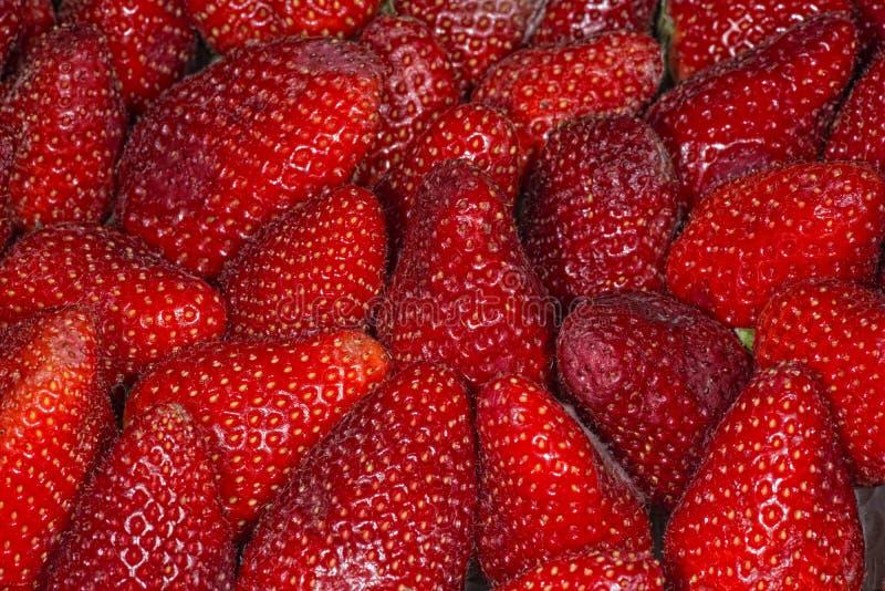 Macro de fraise photographie stock