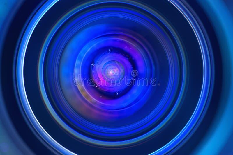 Macro de la abertura de lente imagenes de archivo