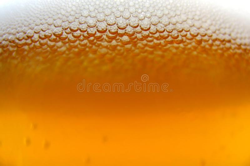 Macro de la cerveza foto de archivo