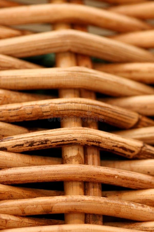 Macro de la cesta tejida foto de archivo libre de regalías