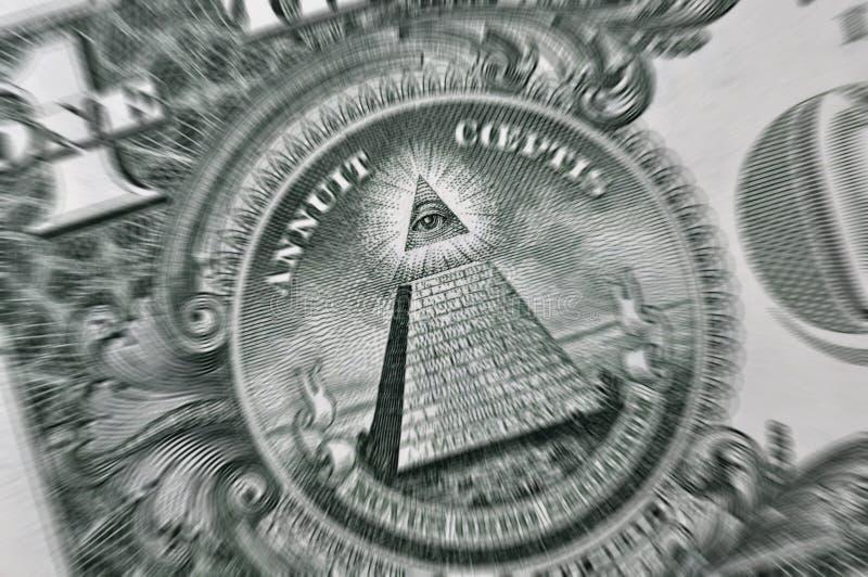 Macro de la cuenta de dólar americano foto de archivo