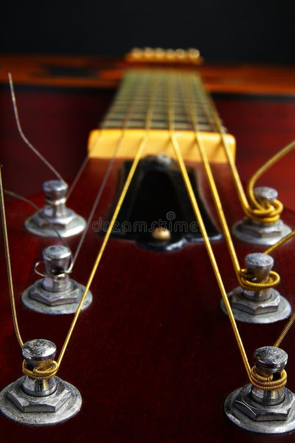 Macro de la guitarra foto de archivo