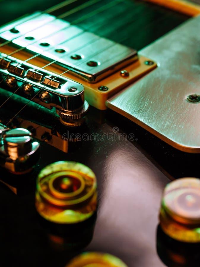 Macro de la guitarra eléctrica foto de archivo libre de regalías