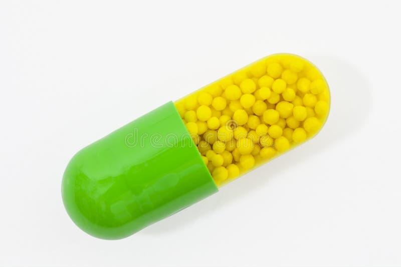 Macro de la píldora de la cápsula fotos de archivo libres de regalías