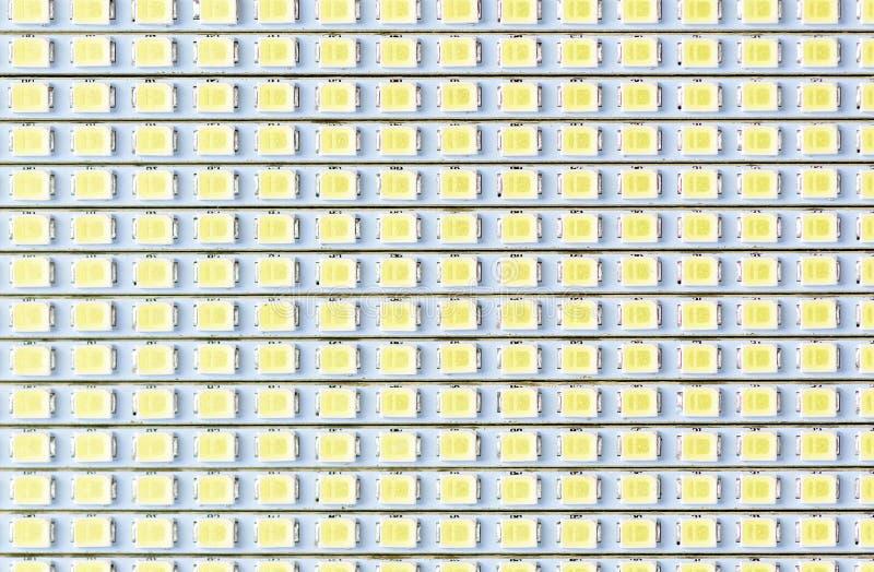 Macro de la textura del panel del LED, bombilla del LED imagen de archivo libre de regalías