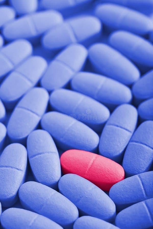 Macro de las píldoras de la prescripción foto de archivo