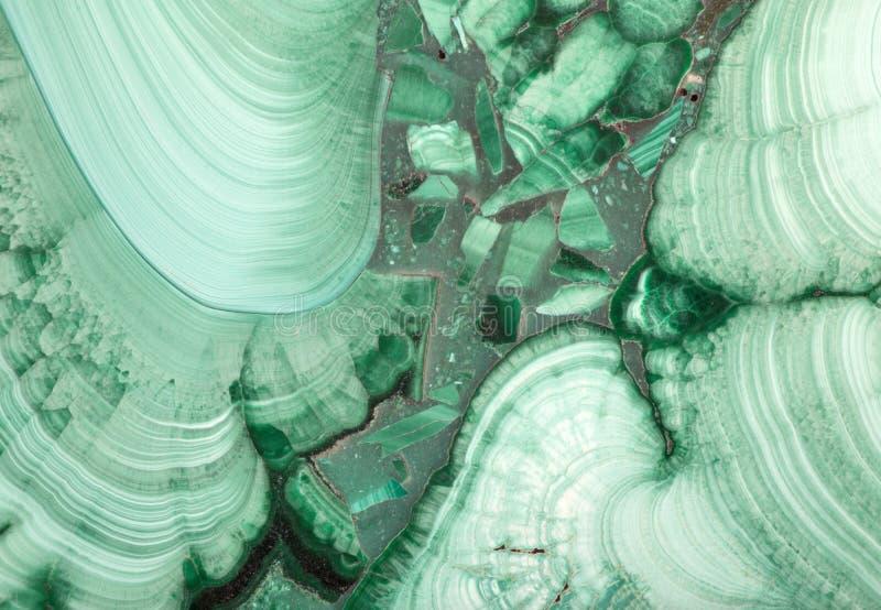 Macro de malachite foncée et légère verte photo stock
