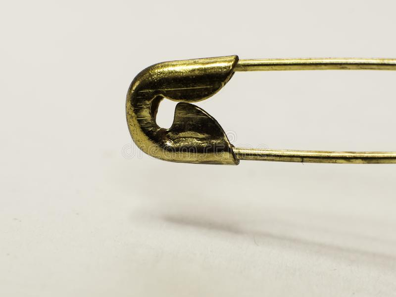 Macro de oro del perno foto de archivo
