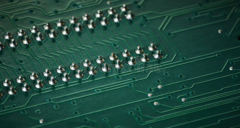 Macro de panneau de circuit intégré image stock