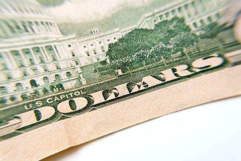 Macro de plan rapproché de billet de banque du dollar photos libres de droits