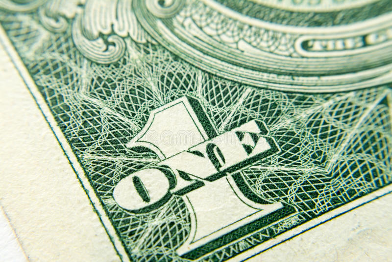 Macro de plan rapproché de billet de banque du dollar images libres de droits