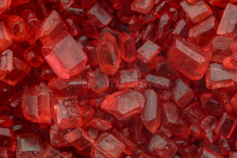 Macro de sucre rouge image libre de droits