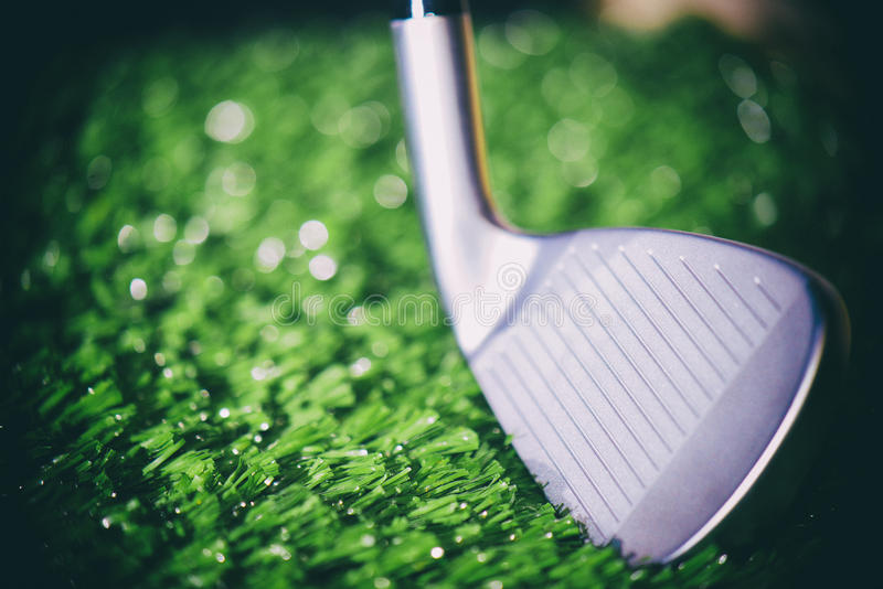 Macro de tête de club de golf image stock