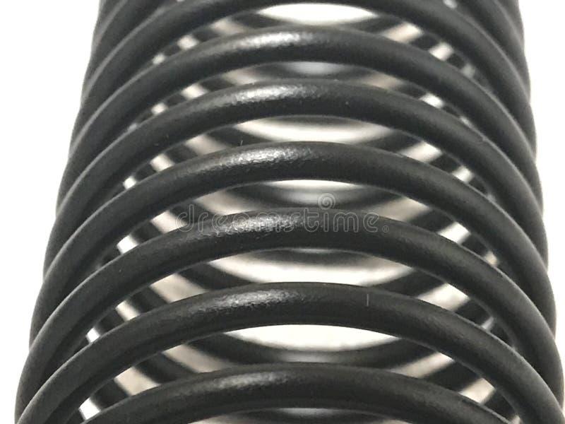 Macro de uma bobina plástica preta imagens de stock royalty free